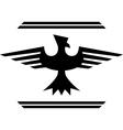 silhouette of fantasy bird vector image vector image