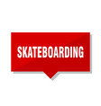 skateboarding red tag vector image vector image