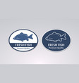 stamp fresh fish vector image