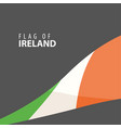 stylish flag of ireland against a dark background vector image vector image