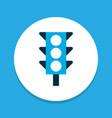 traffic light icon colored symbol premium quality vector image