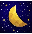triangle new moon snow and the stars vector image