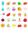 useful food icons set cartoon style vector image vector image