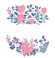 vintage floral hand drawn rose with leaves tattoo vector image vector image
