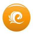 wave tsunami icon orange vector image vector image