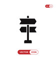 way direction icon vector image