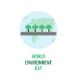 world environment day concept banner layout vector image