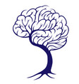tree brain vector image