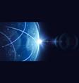 futuristic global internet network background vector image
