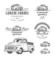 Set of retro farming labels and badges