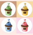 cupcake muffin set collection vector image