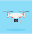 drone with a camera taking photography or video vector image