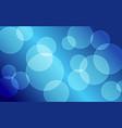 abstract blue bokeh circles background vector image vector image