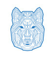 abstract head dog wolf or coyote vector image