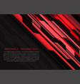 abstract red grey circuit power with dark blank vector image vector image