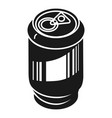 aluminum can for drinks icon simple style vector image