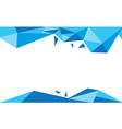 background trangle bleu vector image vector image