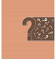 background with question marks vector image vector image