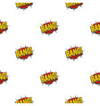 bang comic book explosion pattern seamless vector image vector image