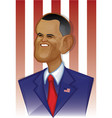 barack obama vector image