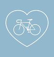 bicycle with heart shape vector image vector image