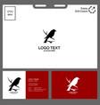 black bird logo design minimalist concept vector image vector image