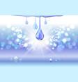 blue oil drops shiny sparkles vector image vector image