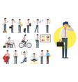 businessman character set vector image vector image
