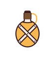 camping flask line icon vector image vector image