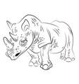cartoon image of rhino vector image vector image