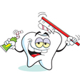 Cartoon Toothbrush Tooth vector image vector image