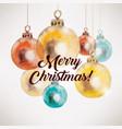 christmas balls background xmas card vector image