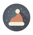 Christmas Hat flat icon vector image