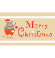 Christmas mouse card vector image
