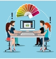 Creative ideas graphic designer vector image vector image