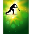 cricket background vector image