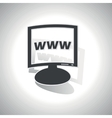 Curved WWW monitor icon vector image vector image