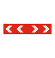 detour of obstacle on the left icon flat style vector image