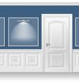door in the blue wall vector image vector image