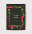 elegant floral merry year 2021 card