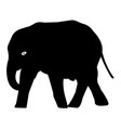 elephant silhouette icon eps vector image vector image