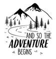 explore adventure hand drawing vector image