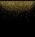 fall the gold glittering tinsel vector image