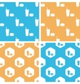Fast food pattern set colored vector image