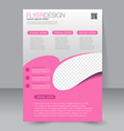 Flyer template Business brochure Editable A4 vector image vector image