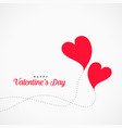 flying hearts design valentines day background vector image vector image