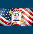 fourth of july independence day sale banner vector image vector image