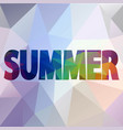 fun shiny background with written text summe vector image vector image