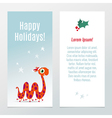 Funny Christmas and New Year holiday banner vector image vector image