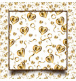 golden heart pattern - valentines day pattern vector image